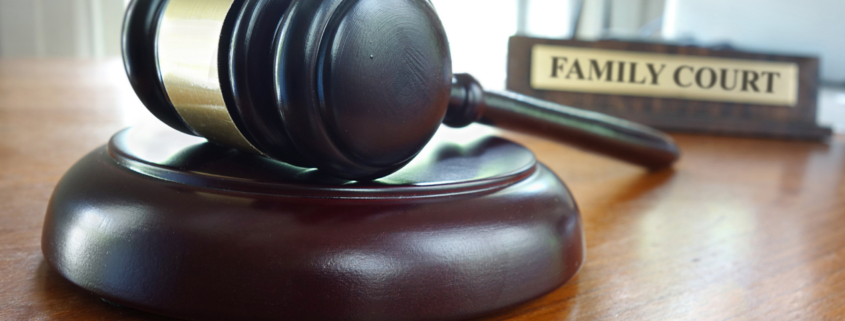 Family Court book and gavel